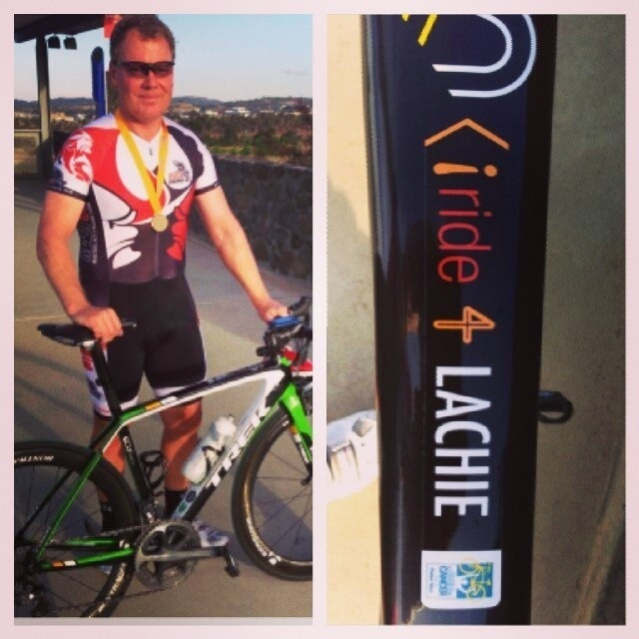 Paul Angelatos of Providence Consulting Group ride for Lachie. You can too. Help raise awareness and funds for the Peter Mac Cancer Centre.