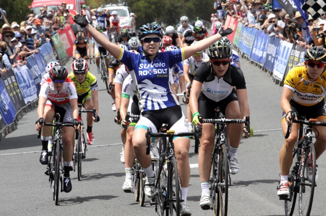 An exciting win for the team in the second stage of the Mitchelton Bay Cycling Classic.