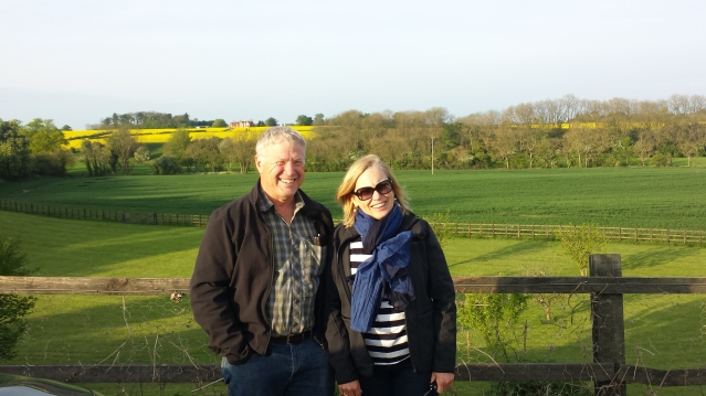 Mum and Dad in the British country side.