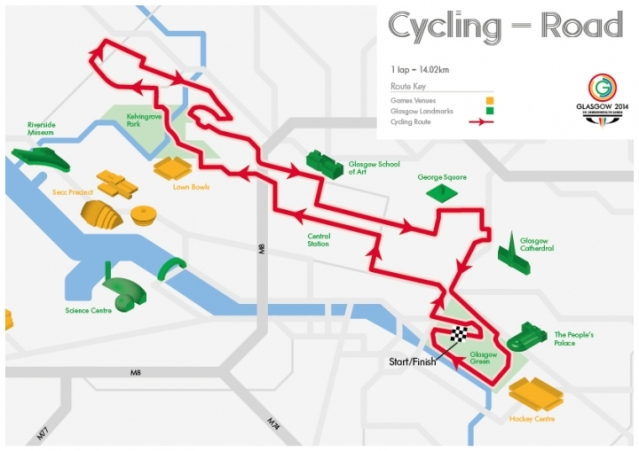 Commonwealth Games Road Course.