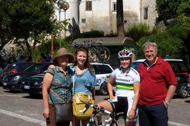 My family and I at my first Giro Rosa in 2009.