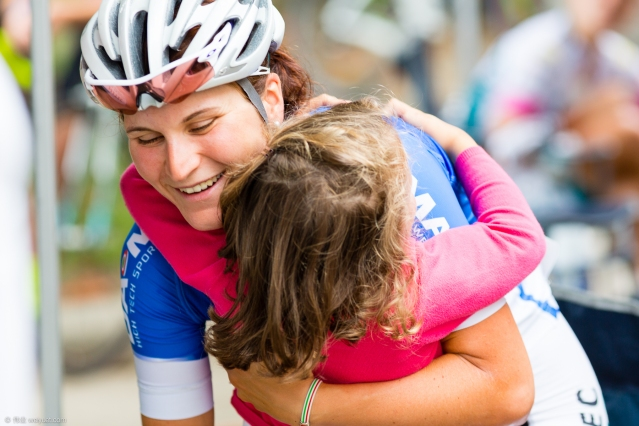 Stage eight of the Giro Rosa  rode through my teammate Elisa Longo Borghini's home town. She had her family out to support her. © Wei Yuet Wong