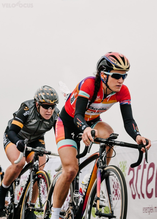 I latched myself to Lizzie Armitstead's wheel the first time over the VAMberg. © Velofocus