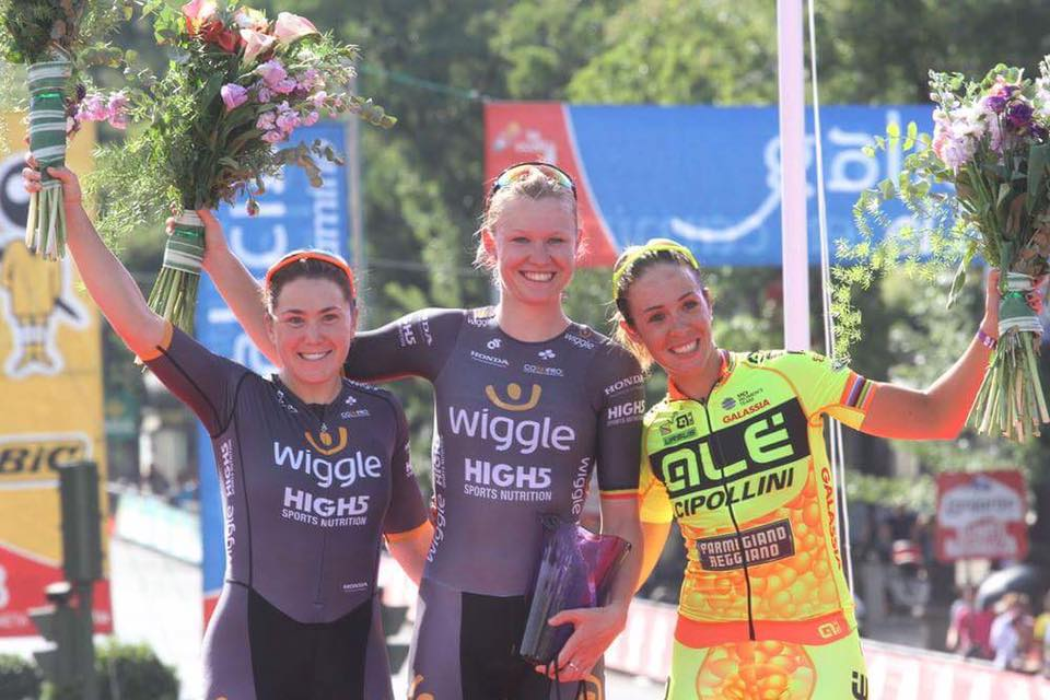 Chloe Hosking finished second behind teammate Jolien D'hoore at the 2016 edition of Madrid Challenge by La Vuelta (C) Bart Hazen.